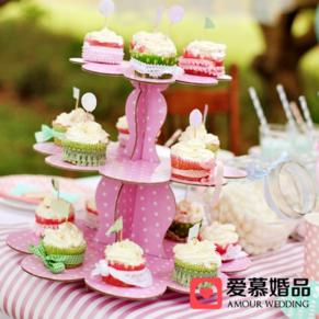简易纸杯蛋糕架甜品托盘蛋糕支架甜品台装饰托盘婚礼