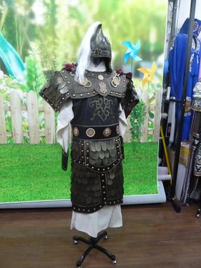 影视古装武士盔甲铠甲将军战袍可穿服装中国古代勇士