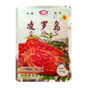 凌罗岛朝鲜辣白菜 手工腌制韩国朝鲜泡菜150g韩国料理 满68元包邮