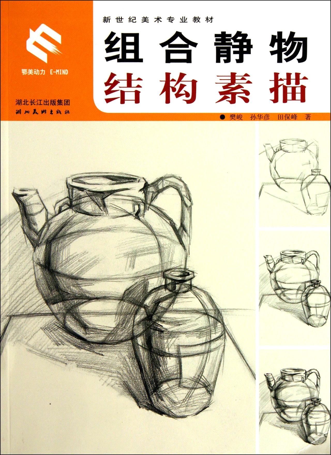 组合静物结构素描(新世纪美术专业教材) 社会科学 正版书籍